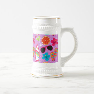 Púrpura de Beachball de las gafas de sol de los fl Taza