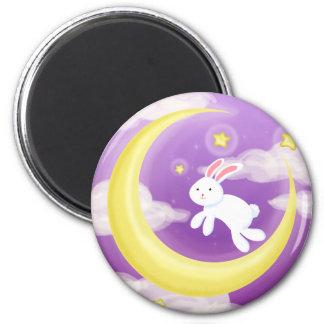 Púrpura de Buny de la luna Imán Redondo 5 Cm