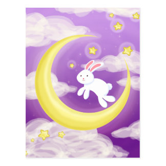 Púrpura de Buny de la luna Postales