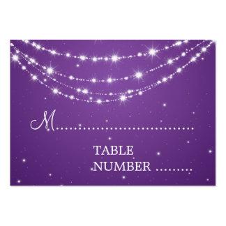 Púrpura de cadena chispeante de Placecards del Tarjetas De Visita Grandes
