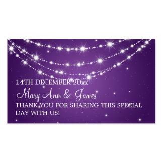 Púrpura de cadena chispeante del boda de la tarjetas de visita