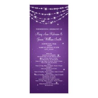 Púrpura de cadena chispeante del programa elegante invitaciones personales