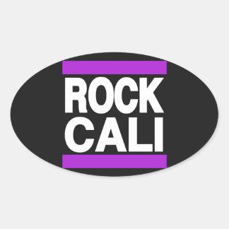 Púrpura de Cali de la roca Pegatina Ovalada