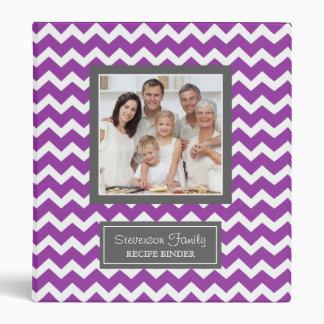 Púrpura de Chevron de la carpeta de la receta de l