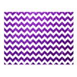 Púrpura de Chevron del brillo Postales
