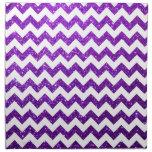 Púrpura de Chevron del brillo Servilleta Imprimida