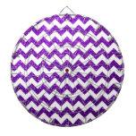 Púrpura de Chevron del brillo Tablero Dardos