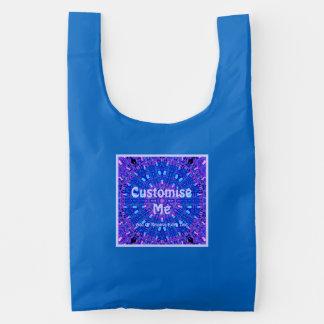 Púrpura de cristal/azul del mosaico del efecto bolsa reutilizable