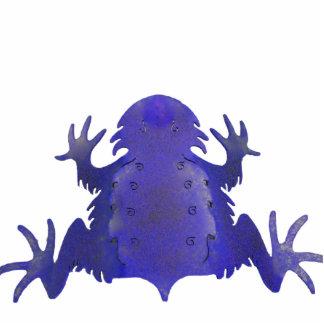 Púrpura de cuernos de la rana esculturas fotográficas