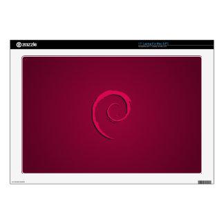Púrpura de Debian Linux Calcomanía Para 43,2cm Portátil