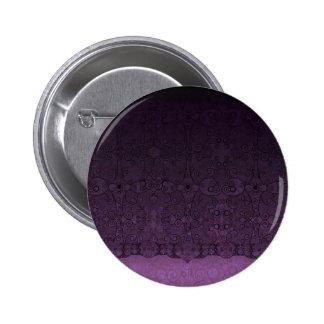 Púrpura de encaje pin redondo de 2 pulgadas