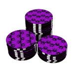 Púrpura de encargo de Chevron 2 Fichas De Póquer