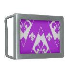 Púrpura de encargo de Chevron 2 Hebilla Cinturón