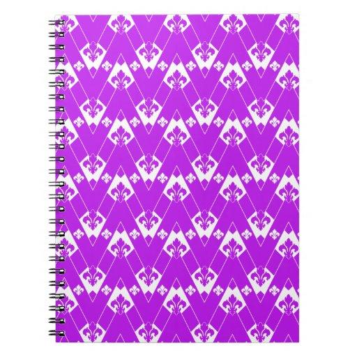 Púrpura de encargo de Chevron 2 Libros De Apuntes Con Espiral