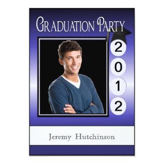 """Púrpura de encargo de la foto de la fiesta de invitación 5"""" x 7"""""""