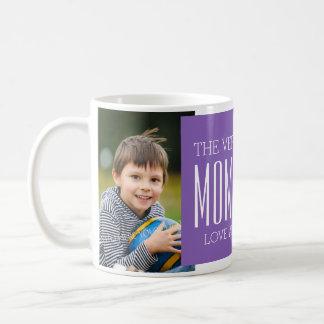 Púrpura de encargo de la taza del día de madre de