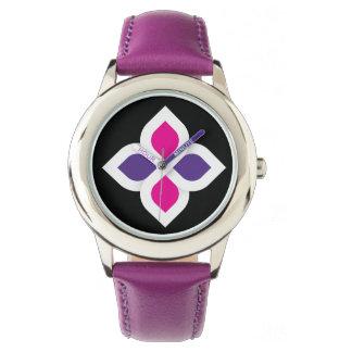 Púrpura de encargo del acero inoxidable de los relojes de pulsera