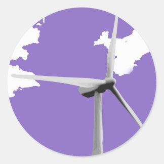 Púrpura de GKWF Pegatina Redonda