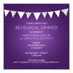 Púrpura de golpe ligero del amor de la cena del invitación 13,3 cm x 13,3cm