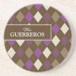 Púrpura de Guerreros/práctico de costa del Posavasos Manualidades
