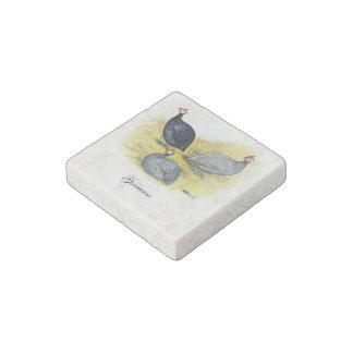 Púrpura de Guinea, azul coralino y lavanda Imán De Piedra