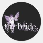 Púrpura de hadas del vestido blanco - la novia etiqueta