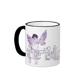 Púrpura de hadas del vestido blanco - la novia taza de dos colores