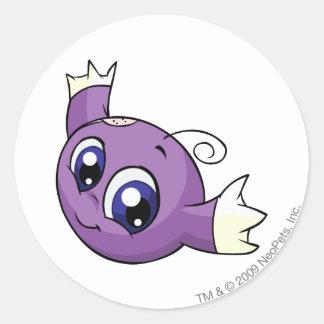 Púrpura de Kiko Pegatina Redonda