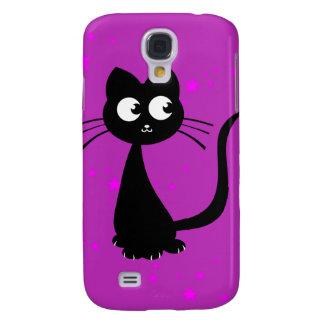 Púrpura de Kuro del gatito Funda Para Galaxy S4