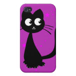 Púrpura de Kuro del gatito iPhone 4 Cobertura