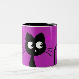 Púrpura de Kuro del gatito Taza