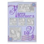 Púrpura de la cadena de margaritas del día de madr tarjetas
