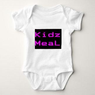 Púrpura de la camiseta de la firma de la comida de