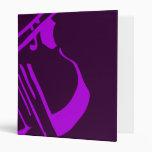 Púrpura de la carpeta del violín