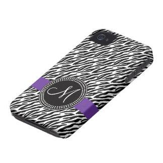 Púrpura de la casamata del iPhone 4 del monograma iPhone 4 Case-Mate Cárcasa