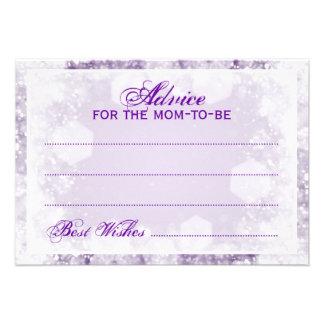 Púrpura de la chispa de la noche de la fiesta de invitaciones personalizada