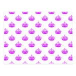 Púrpura de la corona tarjetas postales
