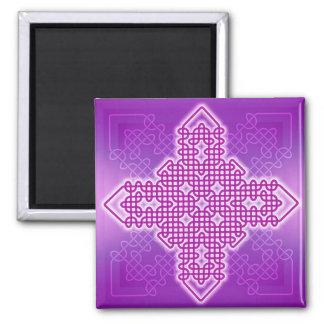 Púrpura de la cruz 10 de Celtuc Imán Para Frigorifico