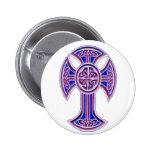Púrpura de la cruz céltica 2 pin