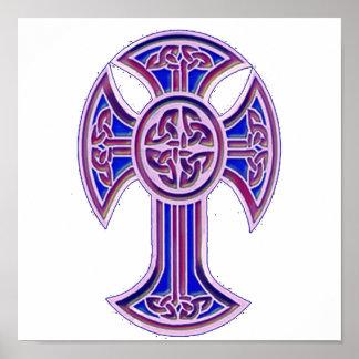 Púrpura de la cruz céltica 2 póster