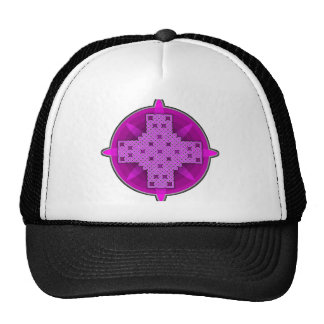 Púrpura de la cruz céltica 4 gorros