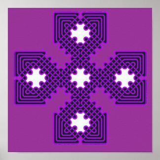 Púrpura de la cruz céltica 8 póster