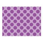 Púrpura de la diversión en los regalos púrpuras de postales