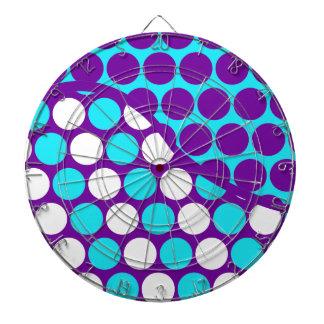 Púrpura de la diversión y modelo de onda del lunar tabla dardos