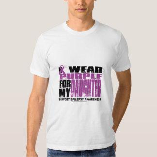 Púrpura de la epilepsia para la hija camisas