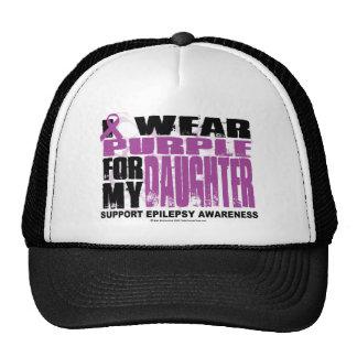 Púrpura de la epilepsia para la hija gorras de camionero