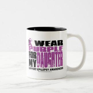 Púrpura de la epilepsia para la hija taza de dos tonos