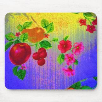 Púrpura de la escena de la fruta alfombrilla de ratones