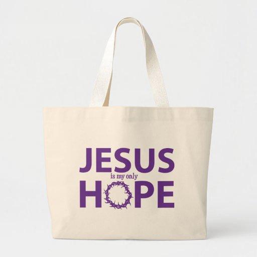 púrpura de la esperanza de Jesús Bolsas De Mano