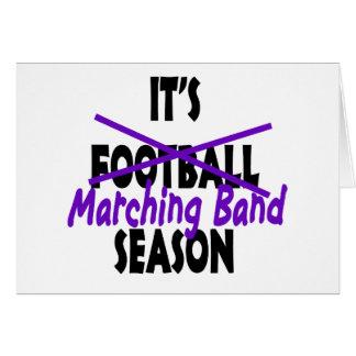 Púrpura de la estación de la banda tarjeta de felicitación